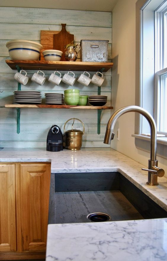 Photo 1 Of 6 In How To Choose The Right Type Of Kitchen Sink For You With Images Kitchen Backsplash Tile Designs Backsplash Designs Beadboard Backsplash