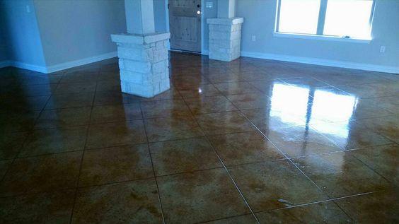 Concrete Floor Etching