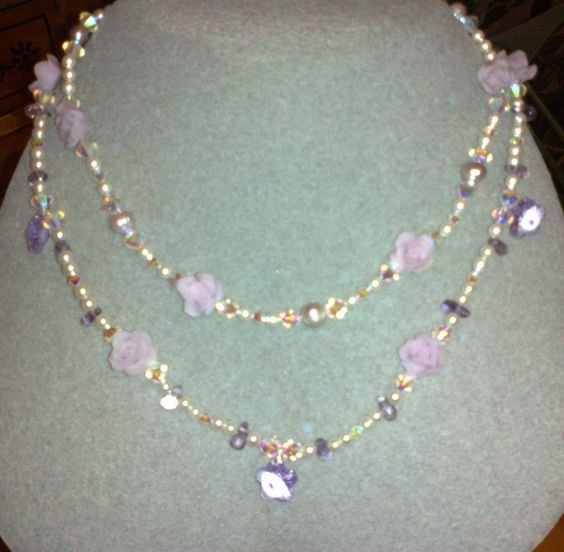 semi-precious stones and swarovski