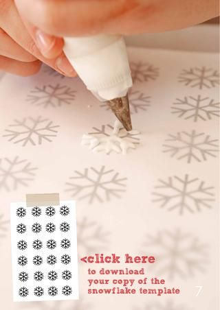 make frosting snowflakes: