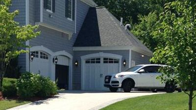 Aaron hernandez home love the 3 car garage for L shaped house plans with 3 car garage