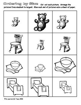 math worksheet : goldilocks and the three bears activitiesincluding cut and  : Goldilocks And The Three Bears Worksheets Kindergarten