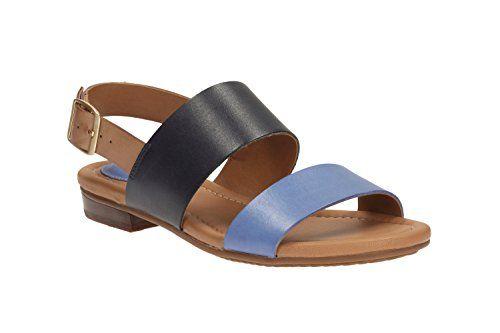 Clarks Damen Freizeit Clarks Viveca Aztek Leder Sandalen In Blau Größe 41 - http://on-line-kaufen.de/clarks/41e-clarks-viveca-aztek-damen-slingback-sandalen