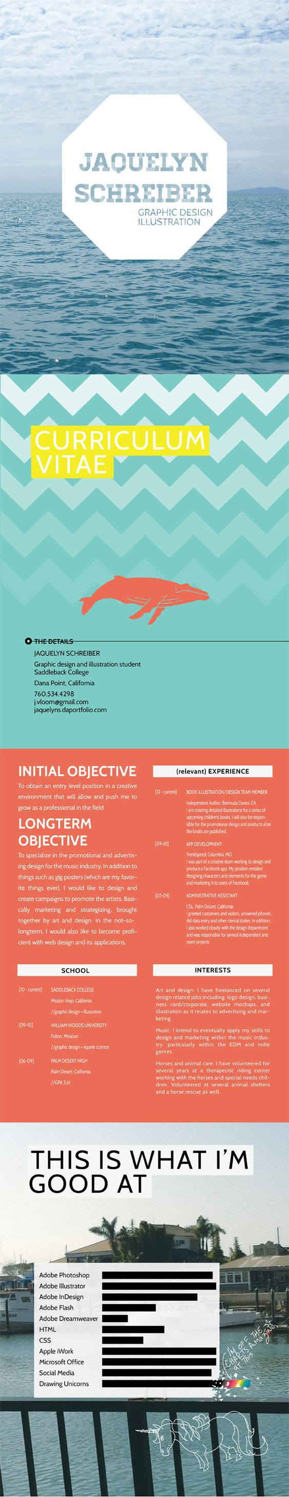 my new resume design featuring whales and unicorns art attack my new resume design featuring whales and unicorns