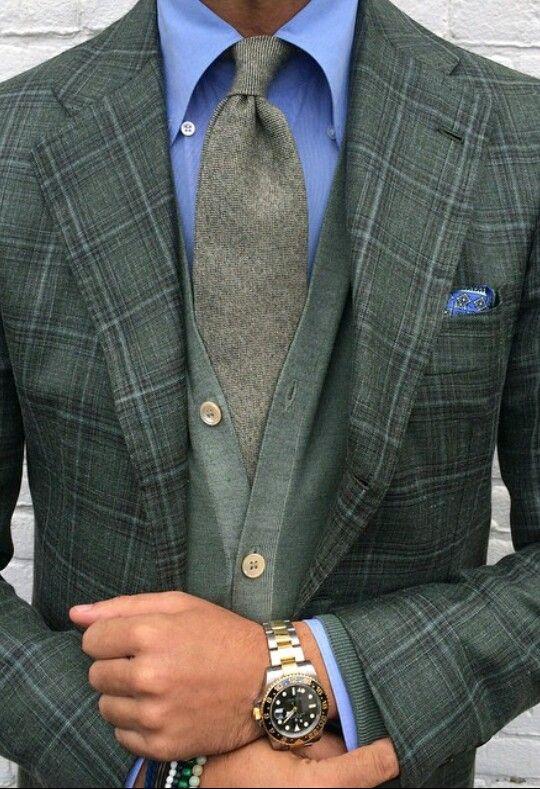 Men's suit green style