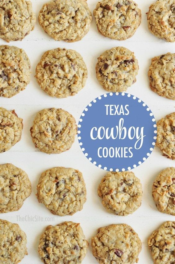 We shared these Texas Cowboy Cookies on the site a few years ago, but we love them so much, that we thought it was a good idea to remake and reshoot them for you guys. Emphasis on the remake part,
