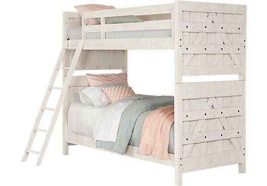 Picture Of Midcity Loft White Twin Twin Bunk Bed From Beds
