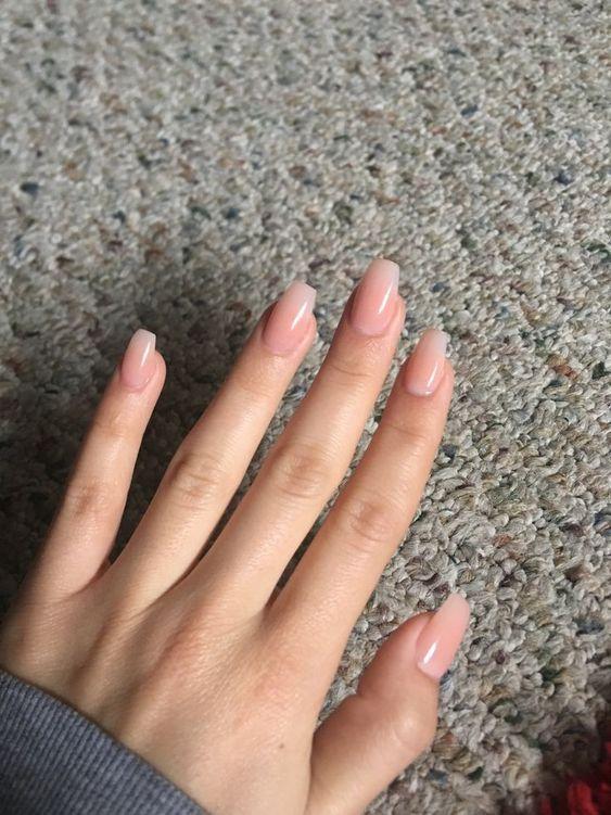 Pin By Sansa Tran On Nails Natural Acrylic Nails Cute Acrylic Nails Pink Nails
