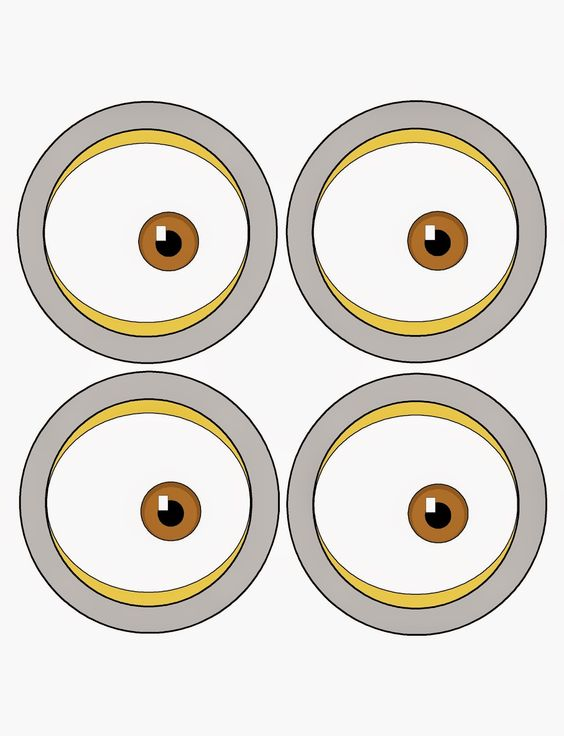 This is an image of Stupendous Minions Printable Eyes