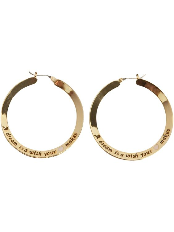 Disney Couture Reviews By Users Compare Prices Using Our Uk Price Comparison Site Engraved Gold Plated Hoop Earrings