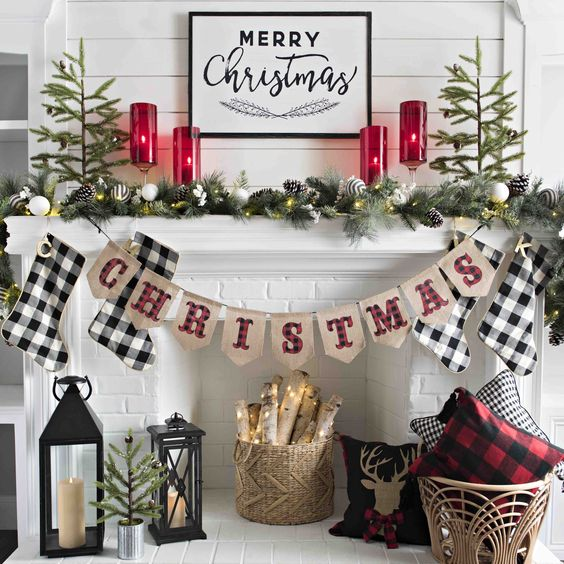 Buffalo check is totally on-trend for Christmas decor this year. See the blog for ways to incorporate into your home!