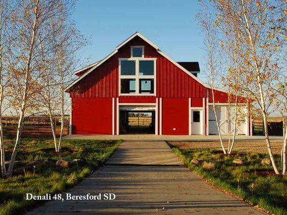 South Dakota, big red Barn Pros barn