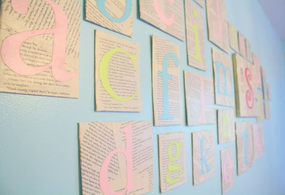"blogged by ""the letter 4"": ABC Wall Tutorial"