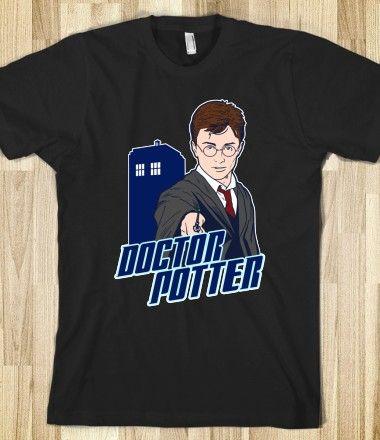 Doctor Potter (Who) Tee Shirt #harrypotter #doctorwho #timelord #sonicscrewdriver #tardis #hogwarts #nerdshirt #nerd #funny $32.99