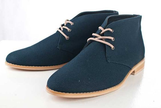 Navy Blue Desert Boots by Sole Service PH <3