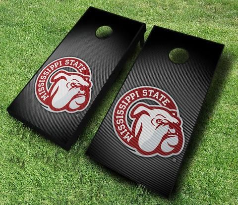 Bean Bag Toss Mississippi State Cornhole Officially Licensed Mississippi State Slanted Cornhole Set with Bags Corn Toss Corn hole