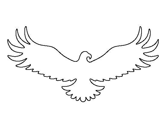 Egyptian Eagle Stencil