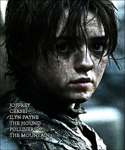 I have faith that Arya Stark will out-live them all.