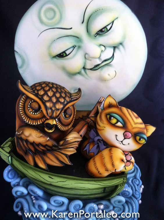 The Owl and the Pussycat by Karen Portaleo: