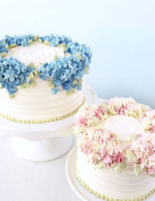 Cake Decorating Classes Nyc Hydrangea Cake Buttercream Decorating Cake Decorating