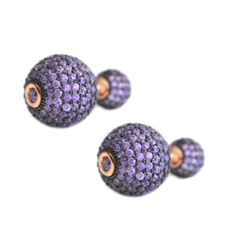 Purple Swarovski Tribal Earrings – Andreia Fuzon Jewelry