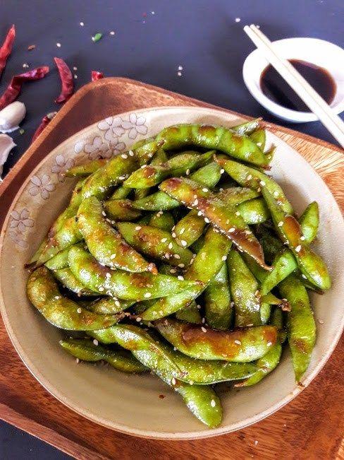 Chili Garlic Edamame Recipe With Images Edamame Recipes