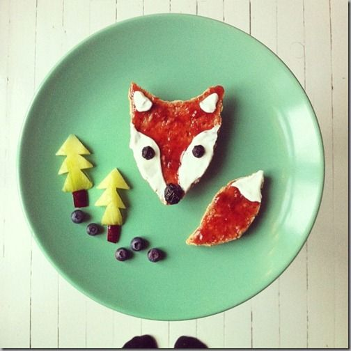 Turned her talents to the breakfast table-Fun and healthy food art made by the Ida Skivenes on Instagram