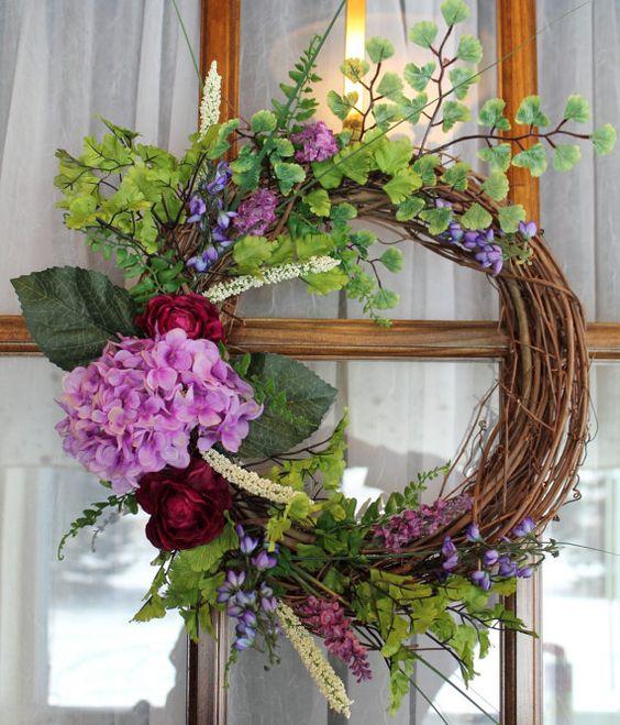 Summer Wreath Grapevine Wreath Front Door Wreath Summer