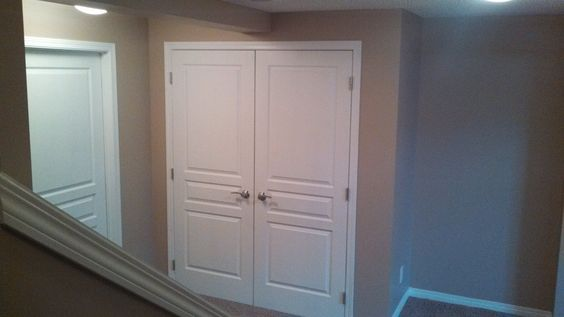 Closet doors basements and doors on pinterest for Basement double door