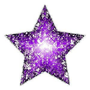 Large Purple Glitter Star With Silver Outline MySpace ...