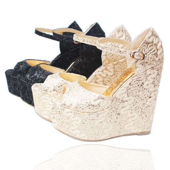 (Buy here: http://appdeal.ru/5ju ) Size 30~43 Peep Toe Bud silk Women Wedge Sandal High Heels Ladies Pumps Shoes Woman Sandalias Mujer Sandales Femme Femininas for just US $48.00