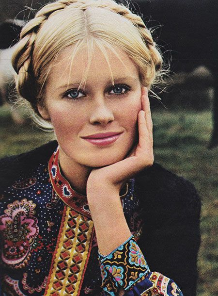 May 1971. 'It's a free exuberant close-to-nature face. A country face that comes only from Coty Originals Makeup Collection.':