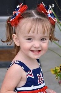 Patriotic Firecracker Hair Bow Tutorial
