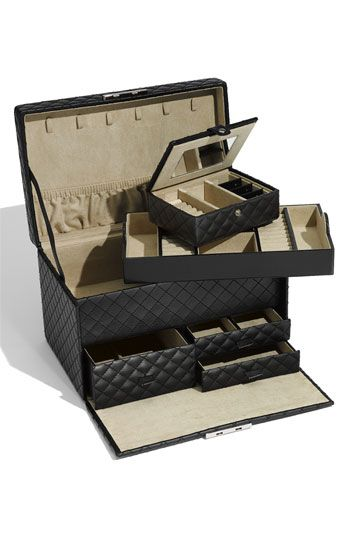 Nordstrom - LusterLoc Large Quilted Jewelry Box $104.90 Black or Camel