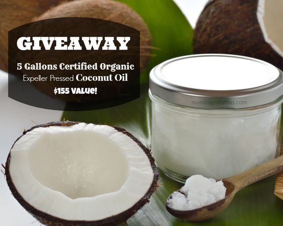 Win 5 gallons of organic coconut oil!