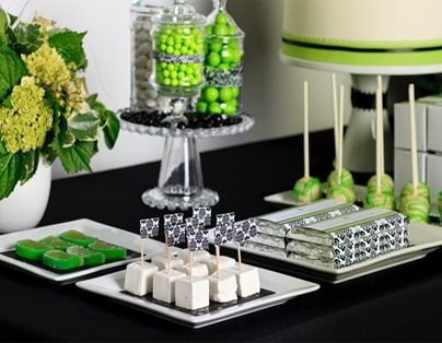 Candy and dessert bar - green and black. Where to buy? Check out our site.