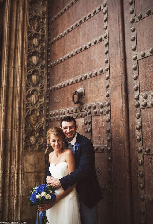 Ramo de novia de hortensias azules //Bouquet. Foto: Alan Nart. Organización: Señor y señora de #bodassrysrade www.señoryseñorade.com
