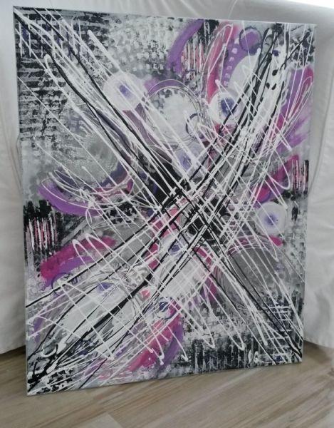 tableau peinture tableau abstrait contemporain colore abstrait acrylique play of colors - Tableaux Abstraits Colors