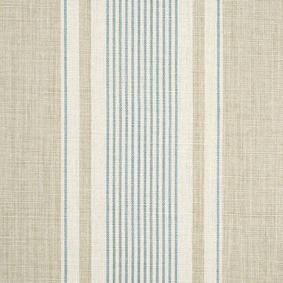 French Ticking fabric in Limestone, Smoke by Vanessa Arbuthnott -- £48 per metre