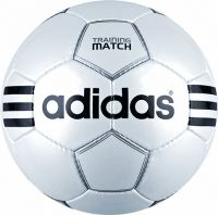 adidas Training Ball Match Footballs are an excellent quality football from adidas. The training match ball features the trademark 3 stripe adidas design and a superb metallic white finish. These adidas footballs are hand stitched.