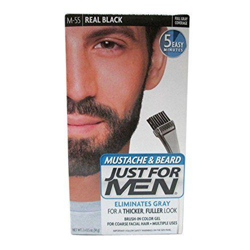 Just For Men Mustache Beard M 55 Real Black Color Gel Beard No Mustache Just For Men Colors Beard Colour