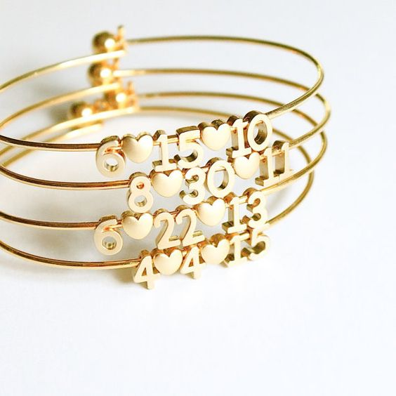 milestone date bracelet // silver or gold