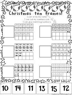 christmas ten frames freebie pinterest december math and christmas. Black Bedroom Furniture Sets. Home Design Ideas