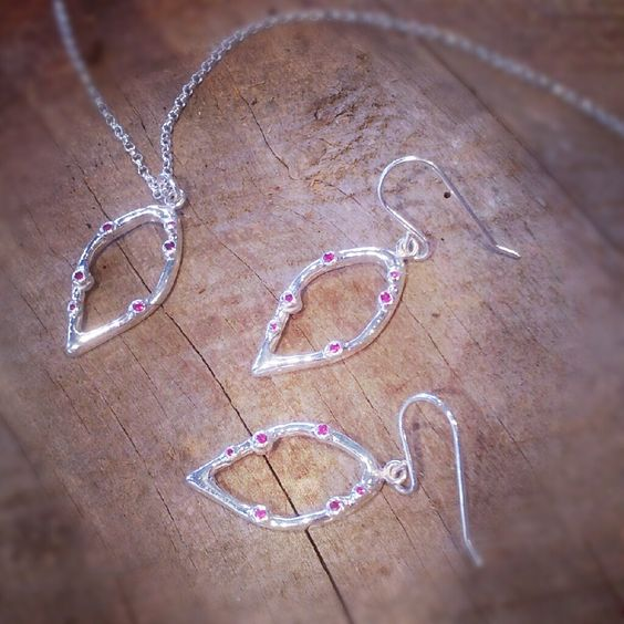 New designs by 'Blue Rose'!! Beautiful sterling necklace and earrings! 'Blue Rose' is exclusively sold at Accents!