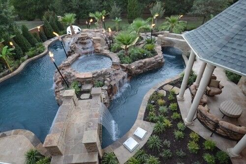 die besten 25 dallas wasserpark ideen auf pinterest versunkene feuerstellen trbes poolwasser und backyard lazy river - Versunkene Feuerstellen Ideen