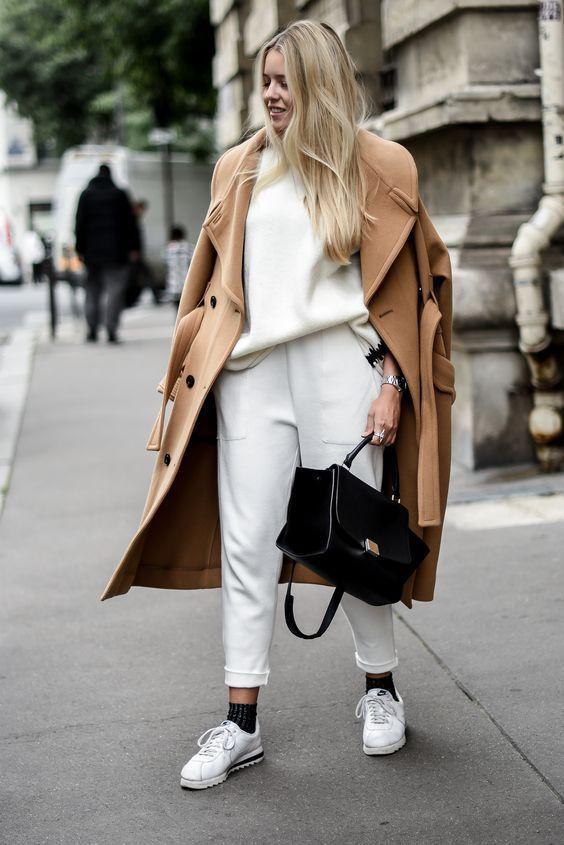 cappotto cammello donna inverno outfit