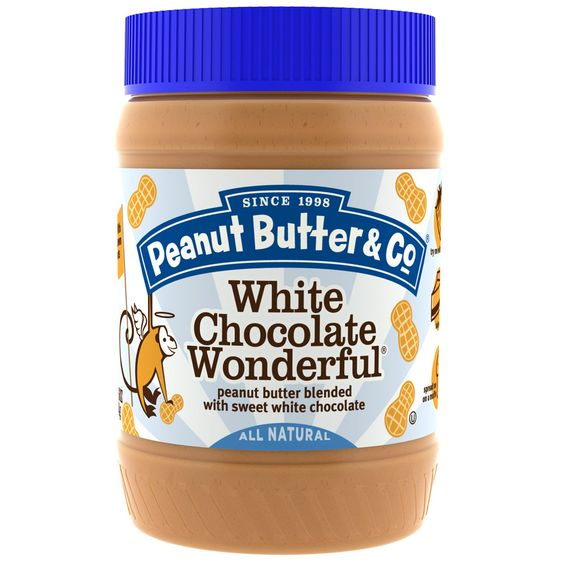 Peanut Butter & Co., ホワイトチョコレートワンダフル、スイートホワイトチョコレート入りピーナッツバターブレンド 16 oz (454 g)