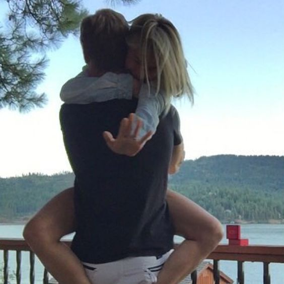 """Future Mr. & Mrs from Julianne Hough & Brooks Laich: Romance Rewind  """"We are overwhelmed with joy and excitement to share with you our recent engagement! #fiancé #love"""" Hough wrote on Instagram in August 2015."""