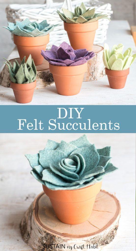 Felt Succulents Wall Hanging Felt Flowers nursery room Felt Succulents Faux Cactus Succulent Office Plants gift for her gift for Mom