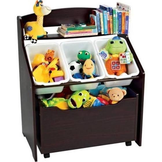 Wooden Toy Box Bookshelf Combo Toy Storage Boxes Kid Toy Storage Toddler Storage